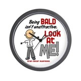 Bald 2 Brain Cancer (SFT) Wall Clock