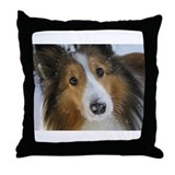 Snow Whiskers Throw Pillow