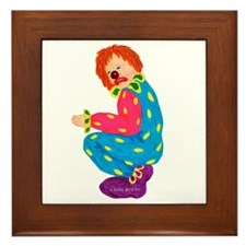Sad Clown Framed Tile