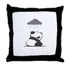 Sad Panda Throw Pillow