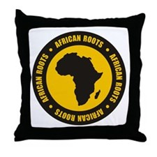 African Roots Throw Pillow