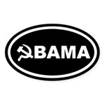 Obama Hammer & Sickle Oval Sticker
