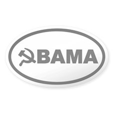 Obama Hammer & Sickle Oval Sticker (10 pk)
