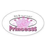 Shoe Princess Oval Sticker (10 pk)
