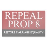 Repeal Prop 8 (Red) Rectangle Sticker 10 pk)