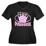 Shoe Princess Women's Plus Size V-Neck Dark T-Shir