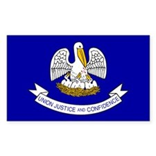 Louisiana State Flag Rectangle Decal