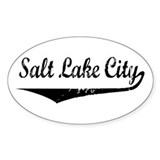 Salt Lake City Oval Decal