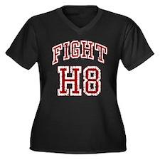 Fight H8 Women's Plus Size V-Neck Dark T-Shirt
