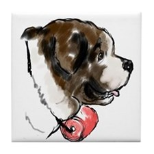 Saint Bernard portrait Tile Coaster