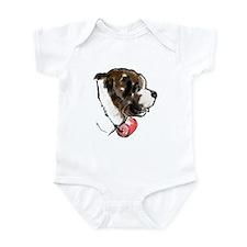 Saint Bernard portrait Infant Bodysuit