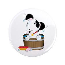 "Doggie Bath 3.5"" Button (100 pack)"