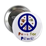 Paws for Peace Navy Button