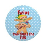 Twins Two Times the Fun Gingerbread Twins Ornament