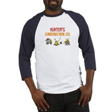 Hunter's Construction Tractor Baseball Jersey