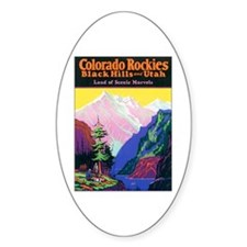 Colorado Rocky Mountains Oval Bumper Stickers