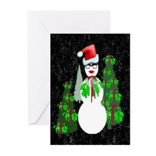 Diva Snow woman Greeting Cards (Pk of 20)
