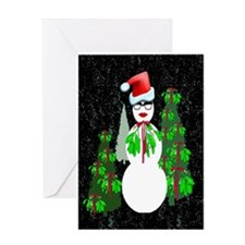 Diva Snow woman Greeting Card