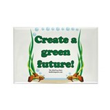 Green Future Rectangle Magnet (100 pack)
