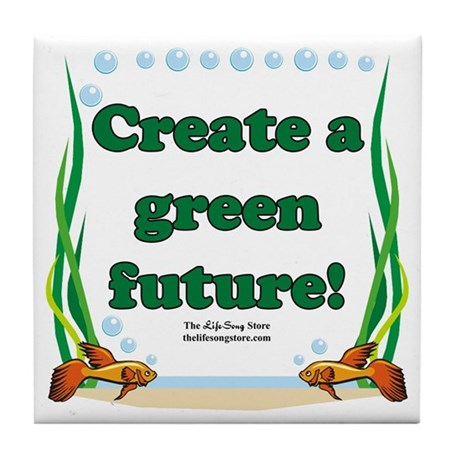 Green Future Tile Coaster