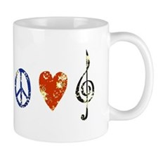 Peace, Luv, Music D Mug