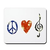 Peace, Luv, Music D Mousepad