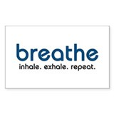 Breathe Rectangle Decal