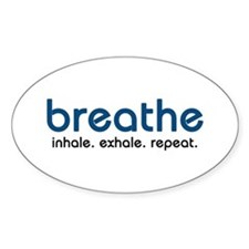 Breathe Oval Decal