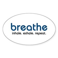 Breathe Oval Sticker (10 pk)