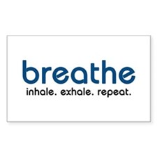 Breathe Rectangle Sticker 10 pk)