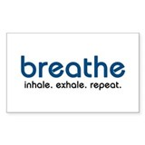 Breathe Rectangle Sticker 50 pk)