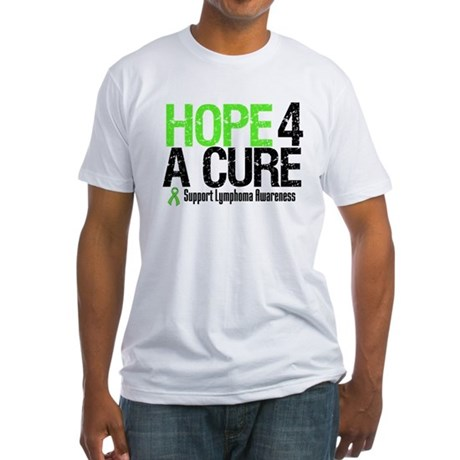 Lymphoma Hope 4 a Cure Fitted T-Shirt