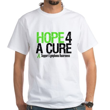 Lymphoma Hope 4 a Cure White T-Shirt