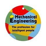 Smart Mechanical Engineer Ornament (Round)