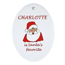 Charlotte Christmas Oval Ornament