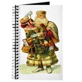 Vintage Santa with Doll Journal