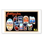 Ocean City New Jersey Rectangle Sticker