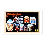 Ocean City New Jersey Rectangle Sticker 10 pk)