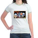 Ocean City New Jersey (Front) Jr. Ringer T-Shirt
