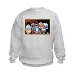 Ocean City New Jersey (Front) Kids Sweatshirt