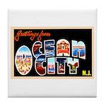 Ocean City New Jersey Tile Coaster
