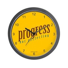 Progress, not perfection Wall Clock