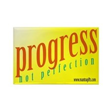 Progress, not perfection Rectangle Magnet