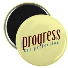 "Progress, not perfection 2.25"" Magnet (10 pack)"