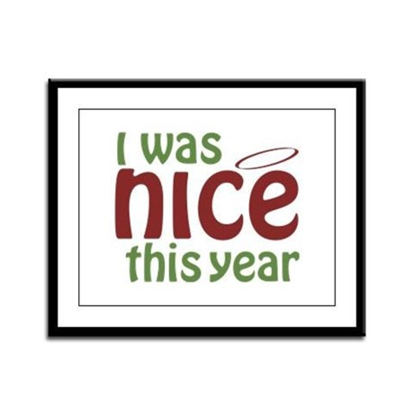 I Was Nice This Year Framed Panel Print