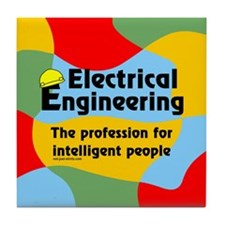 Smart Electrical Engineer Tile Coaster