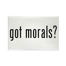 got morals? Rectangle Magnet