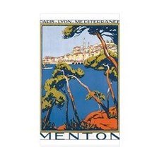 Menton France Rectangle Sticker 50 pk)