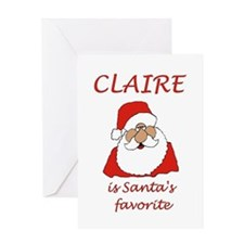 Claire Christmas Greeting Card