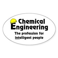 Smart Chemical Engineer Oval Sticker (50 pk)